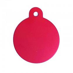 Médaille cercle large rouge