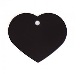 Médaille cœur large noir