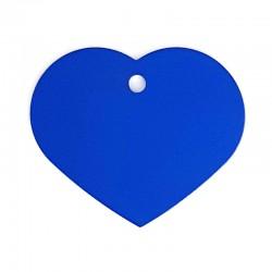 Médaille cœur large bleu