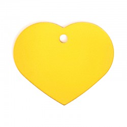 Médaille cœur large gold