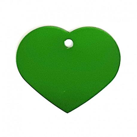 Médaille cœur large vert