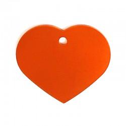 Médaille cœur large orange