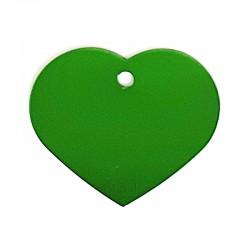 Médaille cœur petit vert