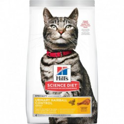 Hill s  Science Diet  Adult Urinary & Hairball Control  7 lb