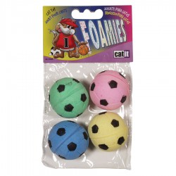 Catit Sponge Soccer Balls 4pcs-V