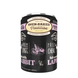 Pâté chien LAPIN adulte 354g (12.5 oz) OVEN BAKED TRADITION Canned Food