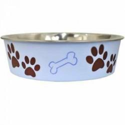 LOVING P BELLA CHIEN/CHAT BOL BLEU MURANO P 443ML  Food And Water Bowls