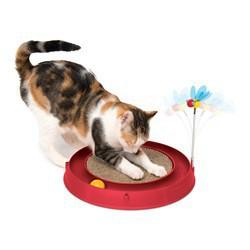 Circuit 3 en 1 avec balle et planche à griffer Cat CATIT Toys
