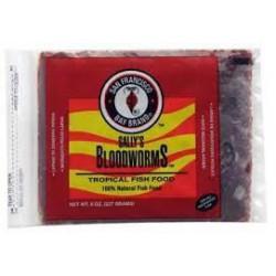 BLOODWORMS 8.0 OZ.  Nourriture congelées